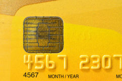 Close up of golden credit card Stock Images