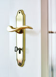 Close-up of a golden door handle Royalty Free Stock Photography
