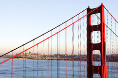 Close up The Golden Gate Bridge in San Francisco Royalty Free Stock Images