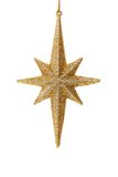 Close up of golden glitter star Royalty Free Stock Photos