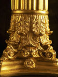 Close-Up of Golden Pillar Stock Photography