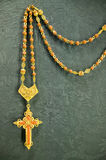 A close up of golden rosary that Pope owned in the Sevilla Cathedral, Southern Spain Royalty Free Stock Photo