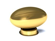 Close-up on a golden rugby ball Stock Photography