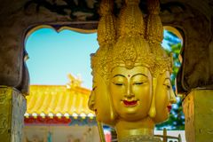 Statues at Ten Thousand Buddhas Monastery in Sha Tin, Hong Kong, China. stock image