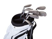 Close-up of a golf bag Royalty Free Stock Photography