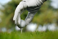 Close-up of a golf ball Stock Photography