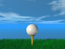 Close up of a golf ball Royalty Free Stock Images