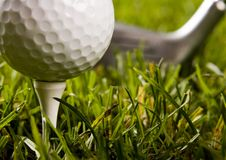Close up of a golf ball Royalty Free Stock Photo