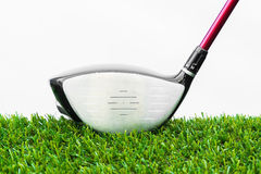Close up of golf ball and driver Stock Photos
