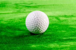 Close up of a golf ball on the green Stock Image