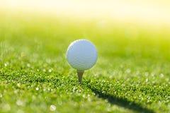 Close-up of golf ball. Stock Image