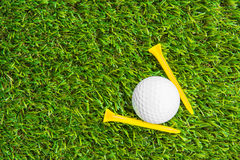 Close up of golf ball and tee Stock Images