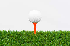 Close up of golf ball and tee Stock Image