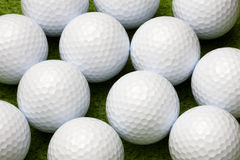 Close up of golf balls Stock Photos