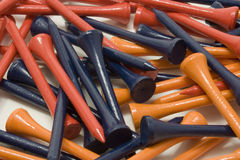 Close up of golf tees  Royalty Free Stock Photography