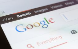 Close up of google page screenshot Royalty Free Stock Photography