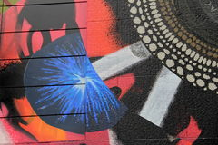 Close up of gorgeous street art, Boston,Mass,October,2014 Royalty Free Stock Photos