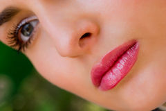 Close-up of gorgeous woman face Stock Images