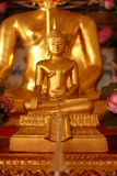 Close-up gouden Boedha/Thailand Stock Afbeeldingen
