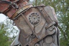 Close Up Of A Grab Crane stock image