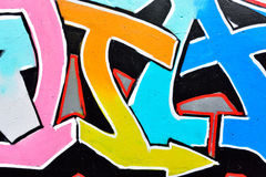 Close-up of the graffiti. On the cement wall Stock Photo