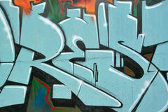 close-up of a graffiti-themed graphics Stock Images