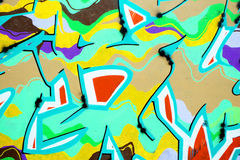 Close up of graffiti wall. A close up of graffiti wall as abstract colorful background Royalty Free Stock Images