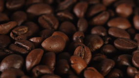 Close up of grain coffee stock video footage