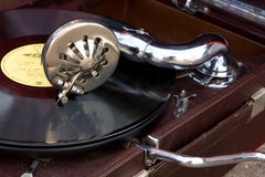 Close-up gramophone Stock Photography