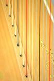Close up grande da corda da harpa do pedal do concerto Foto de Stock Royalty Free