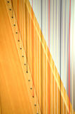 Close up grande da corda da harpa do pedal do concerto Imagem de Stock Royalty Free