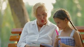 Close Up On Grandmother And Granddaughter stock footage