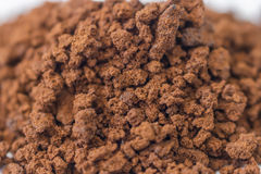Close up  granulate of instant coffee Royalty Free Stock Images