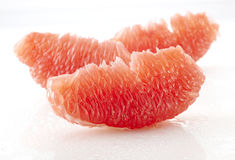 Close up of grapefruit pulp Royalty Free Stock Images
