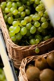 Close up of grapes and kiwis Royalty Free Stock Images