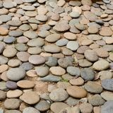 Close up gravel stone pathway in the park. Stock Photo