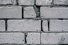 Close up of gray brick wall fragment for background Royalty Free Stock Photography