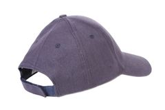 Close up of gray cap.
