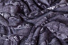 Close up Gray Flax Linen foto de stock royalty free