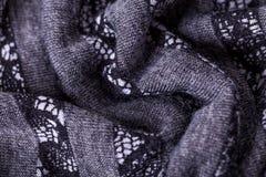Close up Gray Flax Linen foto de stock