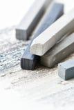 Close up of gray hard pastels Stock Image