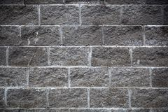 A close-up gray wall. Close-up of a gray old brick wall. Gray background stock images