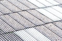 Close up of gray and white roof texture Royalty Free Stock Photography