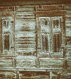 Close up of gray wooden fence panels Royalty Free Stock Images