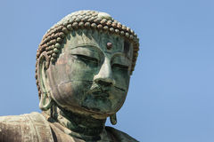 Close up of Great Buddha statue in Kamakura Royalty Free Stock Photo