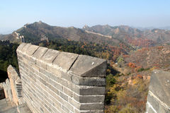 A close-up of the Great Wall Stock Photos