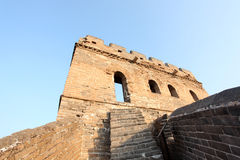 A close-up of the Great Wall Stock Photography