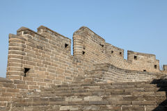 A close-up of the Great Wall Stock Photo