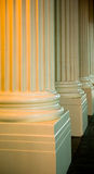 Close up of Greek columns Stock Photography