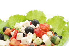 Close up Greek salad Stock Images